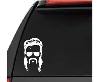 Mullet Man Car Window Decal