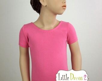 Princess Pink Leotard-Ballet Short Sleeve Leotard (Children's)