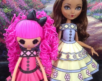 Heidi Printable Doll Clothes - Fits Ever After High, Barbie, Lalaloopsie and More!