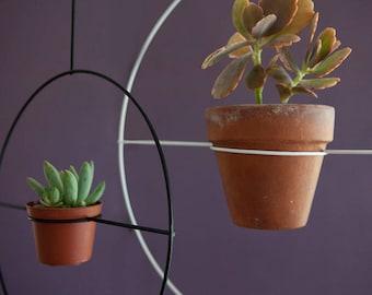 hanging planter, succulent planter, black metal plant hanger, indoor gardening, Modern Planter, Round Planters, succulent planter, boho