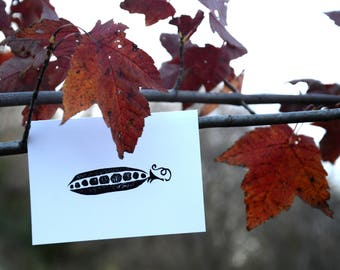 Stamped Pea Pod Card