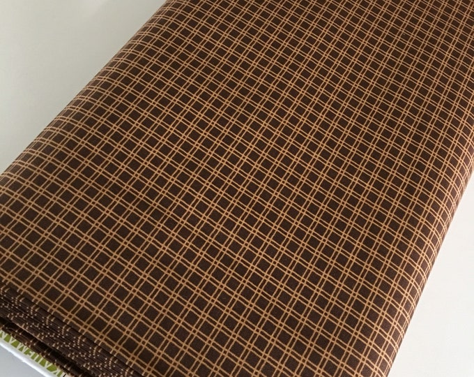 Plaid Fabric, Cotton Fabric by the Yard, Quilting Fabric, Campsite Critters, Camping Outdoors, Explore, Gift for Baby, Quilt, Choose the cut