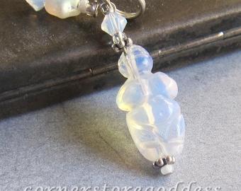 Opalite Venus of Willendorf Goddess Charm Zipper Pull