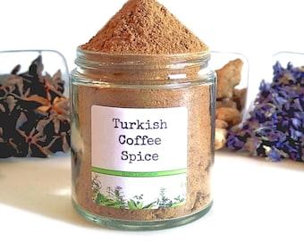 Turkish Coffee/Coffee Spice/Spice Rack/Seasoning Blends/Food Gift/Coffee Gift/Coffee Lover/Foodie Gift/Seasonings Gifts/Chef Gift