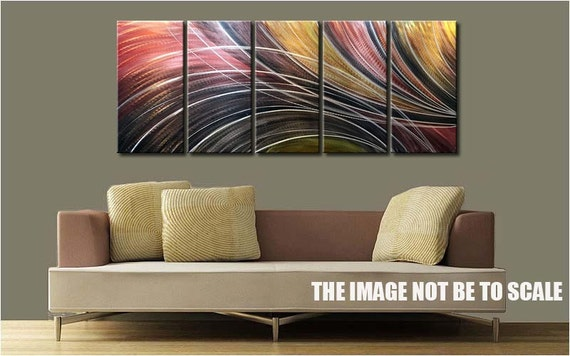 Kunst voor aan de muur. trendy fantasie materiaal met frame for