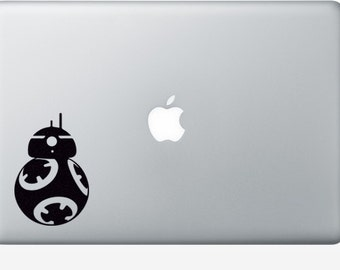 Robot Fabric Decal - Star Wars Inspired BB8 - iPhone Sticker - Teen Room Wall Art - Movie Wall Decor - Black Laptop Decal - Macbook Sticker
