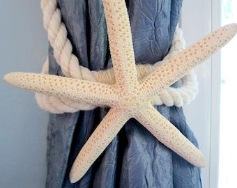 Beach Decor Starfish Tie Back, Curtain Tie Back, Nautical Decor Starfish Curtain Tieback, Beach House Decor - 4 STYLES