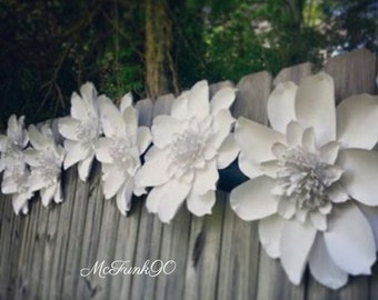 Weddings Large Handmade Paper Magnolia 10-18 Inch Flowers in The Color of Your Choice