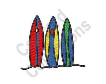 Surf Boards - Machine Embroidery Design