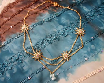 Necklace turquoise Suns
