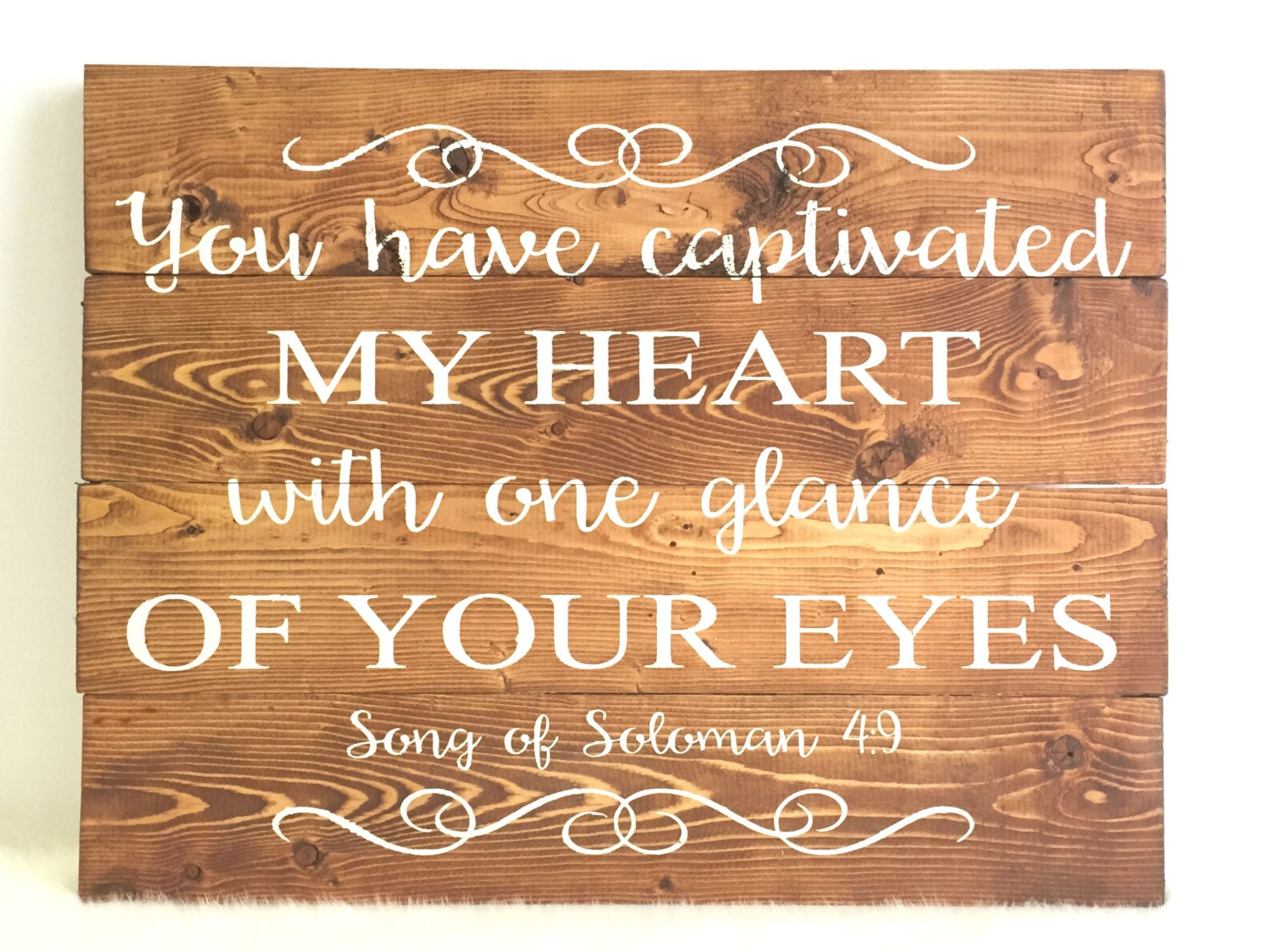 Song of Solomon Quote Wood Wedding Sign Rustic Wedding Sign