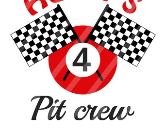Pit Crew Racing Birthday Number Personalized Digital Download for iron-ons, heat transfer, Scrapbooking, Cards, Personalized, DIY YOU PRINT