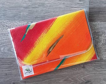 Solar Burst #2 Small Art Clutch Purse OOAK