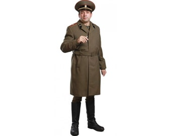 Soviet Officers coat Russian Army green overcoat