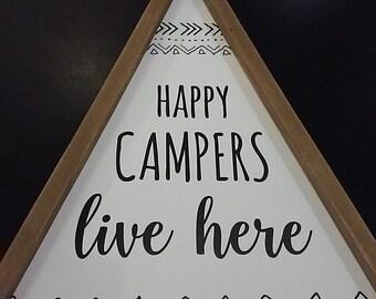 Happy Campers...Tee Pee Wall Decor