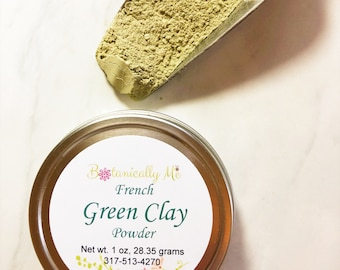 French Green Clay Powder, French Green Clay Mask, Green Clay, Facial Mask, French Green Clay, Face Mask