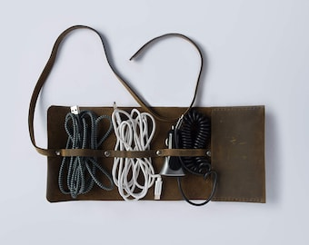Oiled Leather Cord Wrap - Made to Order