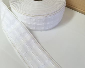 """Curtain Tape Gold Line 75mm 3 inch 3"""" white header tape"""
