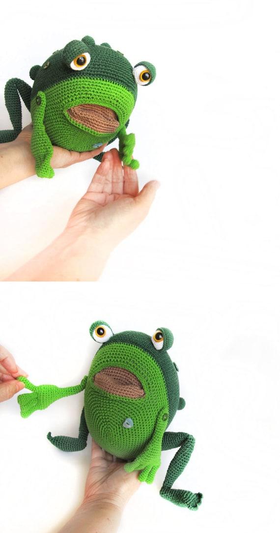 Amigurumi Muster Frosch Häkeln riesige Kröte Frog gestrickt