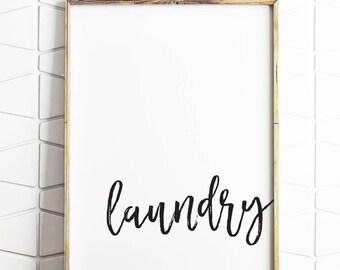 laundry wall decor, laundry wall art, laundry printable, laundry download, modern laundry sign, laundry brush art
