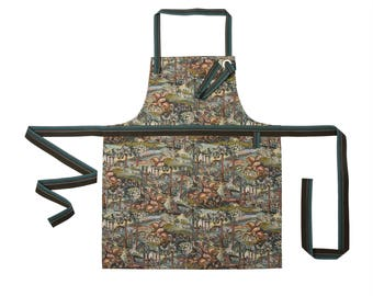 Classic kitchen apron for woman or for man made from colorful gobelin. Handmade with Love!