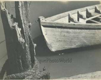 Boat abstract vintage art photo