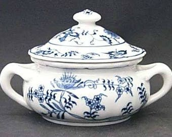 Blue Danube Covered Soup Bowl