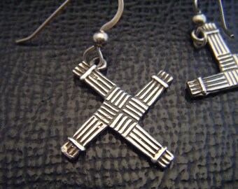 Saint Brigit's Cross Earrings