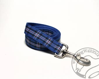 Ranger FC Tartan Leash // Matching Tartan Dog Leash in two widths // custom lengths // Plaid Leashes // Tartan Lead // Football Tartan