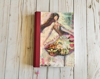 Dreamy diary handmade journal book notebook sketchbook  with 300 gsm bristol paper