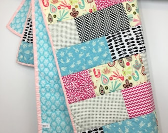 Handmade Folk Toddler Quilt/Playmat