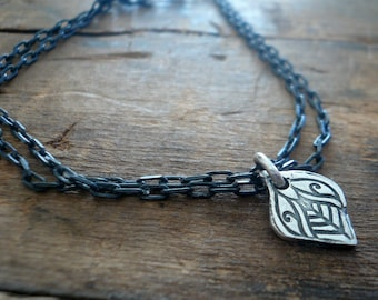 Noceur Collection Bracelet- Oxidized fine and sterling silver. Handmade
