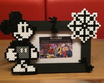 Mickey Mouse Hama bracket Pearl photo frame