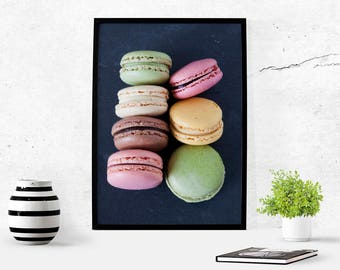 Macarons Macaron Photography Kitchen Art Macaroons Paris Pastel Art Print French Decor Print Food Photography Download Printable Macaroon