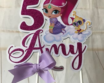 Shimmer and Shine inspired party, Shimmer and Shine  cake topper,Personalized centerpiece cake topper,Shimmer cake topper Shine cake topperr