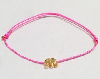 NAZ Gold Plated Elephant Evil Eye Bracelet
