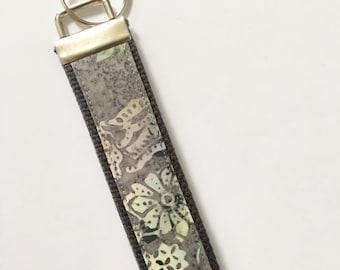 Key fob wristlet, Keychain wristlet, batik key fob