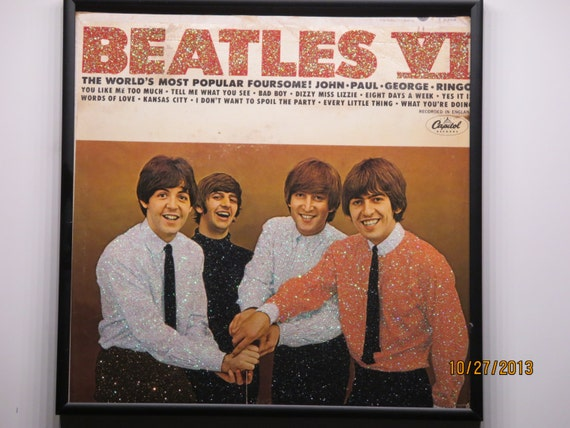 Glittered Record Album - Beatles VI