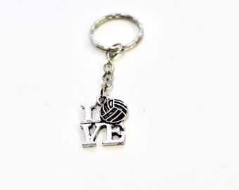 Volleyball keychain etsy love volleyball keychain keyring gift easter gift volleyball player gift volleyball mom negle Images
