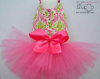 Dog Tutu Harness Dress - Dog Wedding Dress - Small Dog Clothes - Large Dog Dress - Pink Watermelon