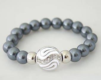 Ski Slope gray bead charm set