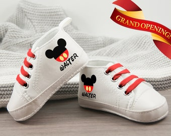 Mickey Mouse Baby Shoes, personalize baby gift for boy,  Baby Boy Shoe, Baby Birthday Gift, Mickey Mouse Birthday, Mickey Shoe,