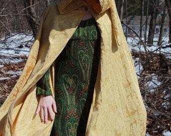 Golden Half-Circle Hooded Cloak
