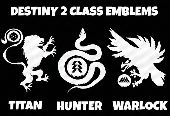 Destiny 2 Class Emblem Decal Choose From Titan Hunter
