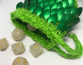 Dragon Scale Dice Bag - Dragon Dice Bag -Scale Dice Bag- Dragon -ScaleMaille- Gaming Bag - Dice Bag- Monster Bag- Scale Bag- *READY TO SHIP*