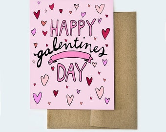 Galentines Day Card, Galentines Card, Valentines Day Card, Friendship Valentine Card, Funny Valentines Card, Funny Galentines Card