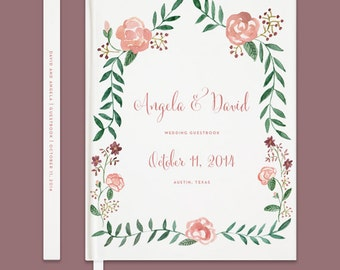 Love Quote Wedding Guestbook Floral Guestbook Custom Wedding