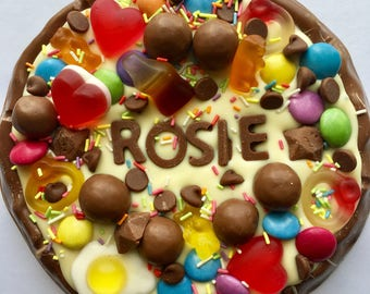 Chocolate pizza - personalised chocolate - wedding gift - chocolate - fathers day gift - gifts for dads
