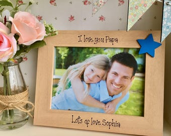 Personalised Daddy Frame, I love Daddy Photo Frame, Dad Gift, Papa Gift, Daddy Present, Daddy To Be, Wooden Frame, Grandad Photo Frame, Dad