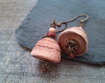 """""""Desert sand"""" ceramic earrings"""